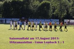 Saisonauftakt: SV Gramastetten - Union Lembach (Fotos H. Luckeneder)