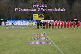SV Gramastetten-U. Vorderweißenbach (Fotos: H. Luckeneder)