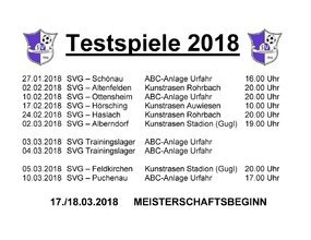 Testspiele 2018 Info